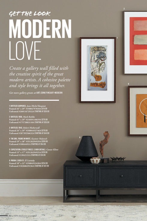 2 Get THE LOOK MODERN LOVE 1 Create A Gallery Wall Filled With The Creative Spirit